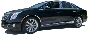 QAA - Cadillac XTS 2013-2017, 4-door, Sedan (4 piece Stainless Steel Wheel Well Accent Trim With 3M adhesive installation and black rubber gasket edging.) WQ53245 QAA - Image 2