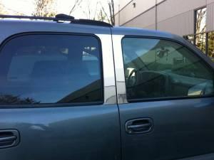 QAA - Chevrolet Suburban 2000-2006, 4-door, SUV (4 piece Stainless Steel Pillar Post Trim ) PP40198 QAA - Image 1