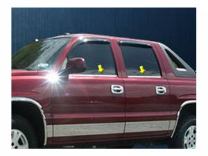 QAA - Chevrolet Avalanche 2002-2006, 4-door, Pickup Truck (4 piece Stainless Steel Window Sill Trim Set ) WS40198 QAA - Image 1