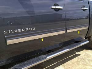 "QAA - Chevrolet Avalanche 2009-2013, 4-door, Pickup Truck, LT1 (4 piece Stainless Steel Rocker Panel Trim, Insert Kit 1+(0.8125)"" Width Side Molding.) TH49184 QAA - Image 1"