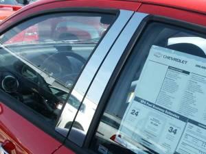 QAA - Chevrolet Aveo 2008-2011, 4-door, Subcompact Car (4 piece Stainless Steel Pillar Post Trim ) PP48125 QAA - Image 1
