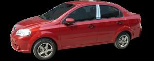QAA - Chevrolet Aveo 2008-2011, 4-door, Subcompact Car (4 piece Stainless Steel Pillar Post Trim ) PP48125 QAA - Image 2