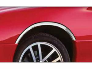 Chrome Trim - Wheel Well/Fender Trim - QAA - Chevrolet Camaro 1993-2002, 2-door, Targa Top, Liftback Coupe, Convertible (4 piece Molded Stainless Steel Wheel Well Fender Trim Molding Clip on or screw in installation, Lock Tab and screws, hardware included.) WZ36100 QAA