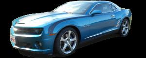 "QAA - Chevrolet Camaro 2010-2015, 2-door, Coupe, Convertible (6 piece Stainless Steel Side Vent Trim ""Shark Fin"" style ) SV50100 QAA - Image 2"