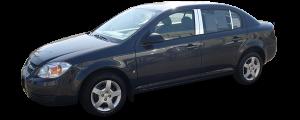 QAA - Chevrolet Cobalt 2005-2010, 4-door, Sedan (6 piece Stainless Steel Pillar Post Trim ) PP48121 QAA - Image 2