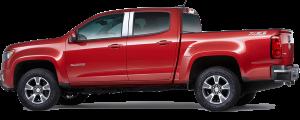 QAA - Chevrolet Colorado 2015-2020, 4-door, Pickup Truck, Crew Cab (4 piece Stainless Steel Pillar Post Trim ) PP55151 QAA - Image 2