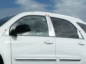 QAA - Chevrolet Equinox 2005-2009, 4-door, SUV (8 piece Stainless Steel Pillar Post Trim ) PP45162 QAA - Image 1