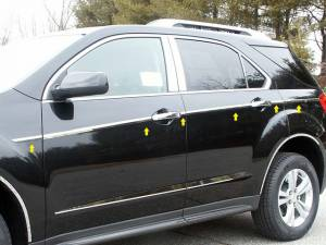 "Chrome Trim - More Trim Options - QAA - Chevrolet Equinox 2010-2017, 4-door, SUV (12 piece Stainless Steel Body Side Molding Accent Trim 1"" wide ) AT50160 QAA"