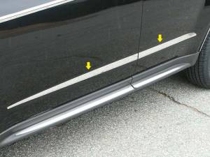 "QAA - Chevrolet Equinox 2010-2017, 4-door, SUV (4 piece Stainless Steel Body Molding Insert Trim Kit 0.5"" - 1.5"" tapered Width ) MI50160 QAA - Image 1"