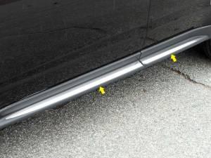 "QAA - Chevrolet Equinox 2010-2017, 4-door, SUV (4 piece Stainless Steel Rocker Panel Trim, Insert Kit 1.5"" Width, On the Cladding, adh. Perimeter Side Molding.) TH50160 QAA - Image 1"