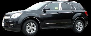 "QAA - Chevrolet Equinox 2010-2017, 4-door, SUV (4 piece Stainless Steel Rocker Panel Trim, Insert Kit 1.5"" Width, On the Cladding, adh. Perimeter Side Molding.) TH50160 QAA - Image 2"