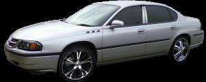QAA - Chevrolet Impala 2000-2005, 4-door, Sedan (1 piece Stainless Steel License Plate Bezel ) LP40135 QAA - Image 2