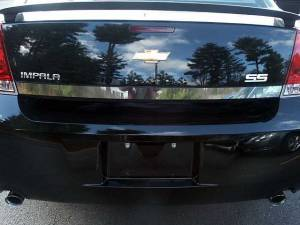 "Chrome Trim - Trunk Lid Accents - QAA - Chevrolet Impala - Limited 2014-2016, 4-door, Sedan, Limited (1 piece Stainless Steel Rear Deck Trim, Trunk Lid Accent 2"" Width ) RD46135 QAA"