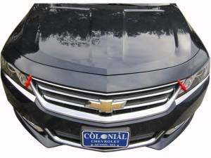 QAA - Chevrolet Impala 2014-2020, 4-door, Sedan, Does NOT fit the Limited (2 piece Stainless Steel Head Light Accent Trim ) HL54135 QAA - Image 1