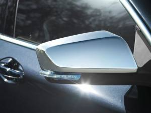 Chrome Trim - Mirror Covers/Accents - QAA - Chevrolet Impala 2014-2020, 4-door, Sedan, Does NOT fit the Limited (2 piece Chrome Plated ABS plastic Mirror Cover Set Snap on replacement set ) MC54135 QAA