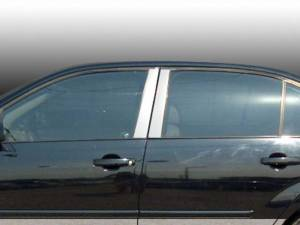 QAA - Chevrolet Malibu 2004-2007, 4-door, Sedan (4 piece Stainless Steel Pillar Post Trim ) PP44105 QAA - Image 1