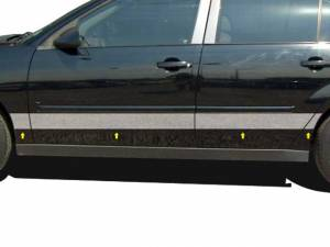 "QAA - Chevrolet Malibu 2004-2007, 4-door, Sedan (8 piece Stainless Steel Rocker Panel Trim, Upper Kit 5.75"" Width Spans from the bottom of the molding DOWN to the specified width.) TH44105 QAA - Image 1"