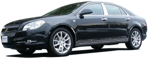 QAA - Chevrolet Malibu 2008-2012, 4-door, Sedan (6 piece Stainless Steel Pillar Post Trim ) PP48106 QAA - Image 2