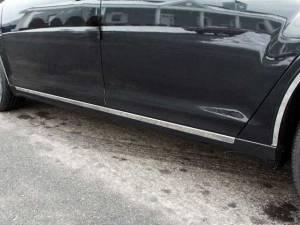 "QAA - Chevrolet Malibu 2008-2012, 4-door, Sedan Base Model ONLY (4 piece Stainless Steel Rocker Panel Trim, On the rocker 1.125"" Width Installs below the door.) TH48107 QAA - Image 1"