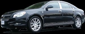 QAA - Chevrolet Malibu 2008-2012, 4-door, Sedan (4 piece Stainless Steel Wheel Well Accent Trim full length With 3M adhesive installation and black rubber gasket edging.) WQ48105 QAA - Image 2