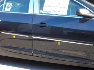 "Chrome Trim - More Trim Options - QAA - Chevrolet Malibu 2013-2015, 4-door, Sedan (4 piece Stainless Steel Body Molding Insert Trim Kit 0.375"" - 0.6875"" tapered Width ) MI53105 QAA"