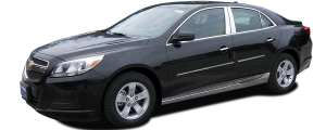 """QAA - Chevrolet Malibu 2013-2015, 4-door, Sedan (8 piece Stainless Steel Rocker Panel Trim, Lower Kit 1.375"""" - 2.125"""" tapered Width Spans from the bottom of the door UP to the specified width.) TH53105 QAA - Image 2"""