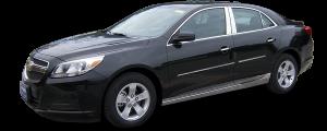 QAA - Chevrolet Malibu 2013-2015, 4-door, Sedan (4 piece Stainless Steel Wheel Well Accent Trim full length With 3M adhesive installation and black rubber gasket edging.) WQ53106 QAA - Image 2