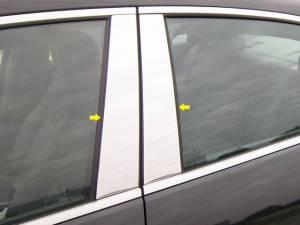 QAA - Chevrolet Malibu 2013-2015, 4-door, Sedan (4 piece Stainless Steel Pillar Post Trim ) PP53105 QAA - Image 1