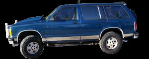 QAA - Chevrolet S-10 Blazer 1990-1998, 4-door, SUV (4 piece Stainless Steel Door Handle Accent Trim ) DH30193 QAA - Image 2