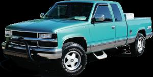 "QAA - Chevrolet Silverado 1996-1998, 3-door, Pickup Truck, C/K 1500 Extended Cab, Short Bed (11 piece Stainless Steel Rocker Panel Trim, Insert Kit 1.438"" Width Side Molding.) TH36178 QAA - Image 2"