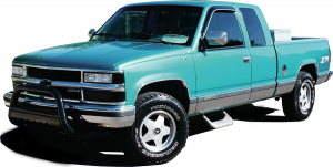 "QAA - Chevrolet Silverado 1996-1998, 3-door, Pickup Truck, C/K 1500 Extended Cab, Short Bed (11 piece Stainless Steel Rocker Panel Trim, Full Kit 6.25"" Width Spans from the bottom of the molding to the bottom of the door.) TH36184 QAA - Image 2"