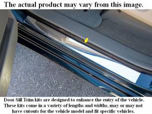"QAA - Chevrolet Silverado 1999-2002, 2-door, Pickup Truck, 1500, Regular Cab (2 piece Stainless Steel Door Sill trim 2.875"" Width ) DS39181-1 QAA - Image 1"