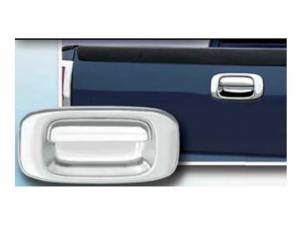 Chrome Trim - Tailgate Handle Cover - QAA - Chevrolet Silverado 1999-2006, 2-door, Pickup Truck (2 piece Chrome Plated ABS plastic Tailgate Handle Cover Kit ) DH39182 QAA