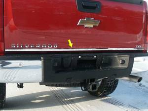 Chrome Trim - More Trim Options - QAA - Chevrolet Silverado 1999-2006, 2-door, 4-door, Pickup Truck (1 piece Stainless Steel Tailgate Accent Trim ) RT39181 QAA