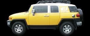 QAA - Toyota FJ Cruiser 2007-2010, 4-door, SUV (1 piece Stainless Steel Front Grille Accent Trim Upper Hood ) SG27142 QAA - Image 3