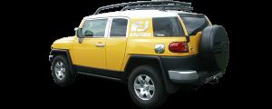 QAA - Toyota FJ Cruiser 2007-2010, 4-door, SUV (1 piece Stainless Steel Front Grille Accent Trim Upper Hood ) SG27142 QAA - Image 4