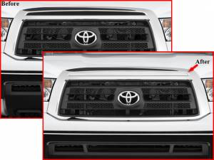 QAA - Toyota Tundra 2007-2009, 2-door, 4-door, Pickup Truck (1 piece Stainless Steel Front Grille Accent Trim Upper Insert ) SG27145 QAA - Image 1