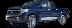 QAA - Toyota Tundra 2007-2009, 2-door, 4-door, Pickup Truck (1 piece Stainless Steel Front Grille Accent Trim Upper Insert ) SG27145 QAA - Image 2