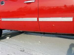 "QAA - Chevrolet Silverado 2007-2008, 4-door, Pickup Truck, Crew Cab (4 piece Stainless Steel Rocker Panel Trim, Insert Kit 2.75"" Width Side Molding.) TH47184 QAA - Image 1"