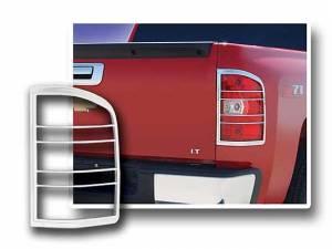 Chrome Trim - Tail Light Accents - QAA - Chevrolet Silverado 2007-2012, 2-door, 4-door, Pickup Truck (2 piece Chrome Plated ABS plastic Tail Light Bezels ) TL47181 QAA