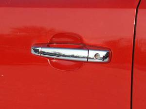 QAA - Chevrolet Silverado 2007-2013, 2-door, Pickup Truck, Regular Cab (6 piece Chrome Plated ABS plastic Door Handle Cover Kit Does NOT include passenger key access ) DH47181 QAA - Image 1