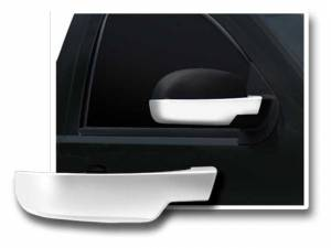 Chrome Trim - Mirror Covers/Accents - QAA - Chevrolet Silverado 2007-2013, 2-door, 4-door, Pickup Truck (2 piece Chrome Plated ABS plastic Mirror Cover Set Bottom Half Only ) MC47197 QAA