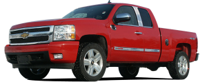 QAA - Chevrolet Silverado 2007-2013, 2-door, 4-door, Pickup Truck (2 piece Chrome Plated ABS plastic Mirror Cover Set Bottom Half Only ) MC47197 QAA - Image 2