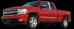 QAA - Chevrolet Silverado 2007-2013, 4-door, Pickup Truck, Extended Cab (4 piece Stainless Steel Window Sill Trim Set ) WS47185 QAA - Image 2
