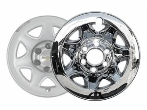 "Chrome Trim - Wheel Cover Hub Cap - QAA - Chevrolet Silverado 2014-2016, 2-door, 4-door, Pickup Truck (4 piece Chrome Plated ABS plastic Wheel Cover 17"" Hub Cap ) HUB54181 QAA"