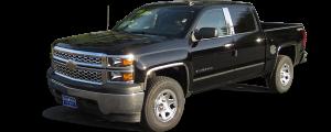 QAA - Chevrolet Silverado 2014-2018, 2-door, 4-door, Pickup Truck (2 piece Chrome Plated ABS plastic Mirror Cover Set Snap on replacement set ) MC54181 QAA - Image 2