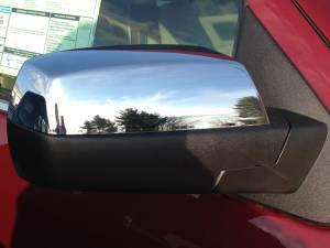 QAA - GMC Sierra 2014-2018, 2-door, 4-door, Pickup Truck (2 piece Chrome Plated ABS plastic Mirror Cover Set Snap on replacement set ) MC54181 QAA - Image 1