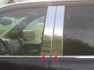 QAA - Chevrolet Silverado 2014-2018, 4-door, Pickup Truck, Crew Cab, Double Cab (4 piece Stainless Steel Pillar Post Trim ) PP54184 QAA - Image 1