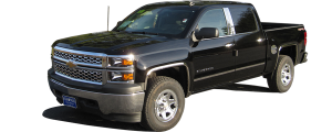 "QAA - Chevrolet Silverado 2014-2018, 4-door, Pickup Truck, Crew Cab, NO Factory Molding (4 piece Stainless Steel Rocker Panel Trim, Upper Kit 6+(0.875)"" Width, On the Doors Only Spans from the bottom of the molding DOWN to the specified width.) TH54184 QAA - Image 2"