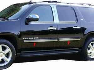"QAA - Chevrolet Suburban 2007-2008, 4-door, SUV (6 piece Stainless Steel Rocker Panel Trim, Insert Kit 2.187"" Width Side Molding.) TH47198 QAA - Image 1"